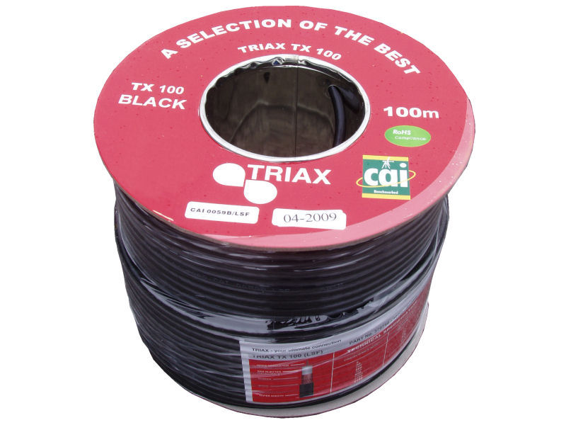 Triax TX100 Cable 100mtr – Black Image | Metro Solutions