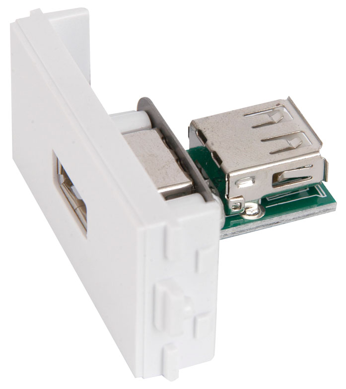 Mercury USB Wall Plate Insert Image | Metro Solutions