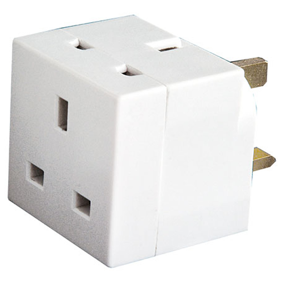 2 Way UK Mains Adapter Plug Image | Metro Solutions