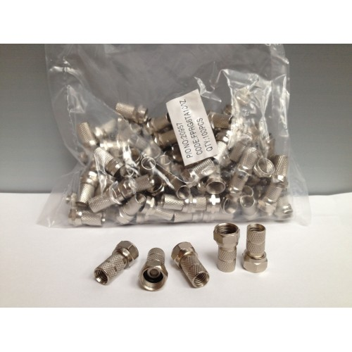 F.Connectors 6.1mm (100) Image | Metro Solutions
