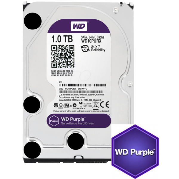 Western Digital Purple 1TB CCTV hard drive Image | Metro Solutions