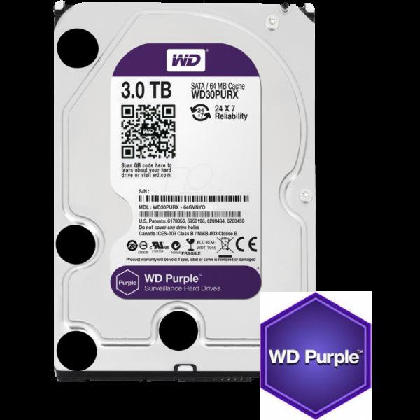 Western Digital Purple 3TB CCTV hard drive Image | Metro Solutions