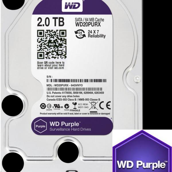 Western Digital Purple 2TB CCTV hard drive Image | Metro Solutions