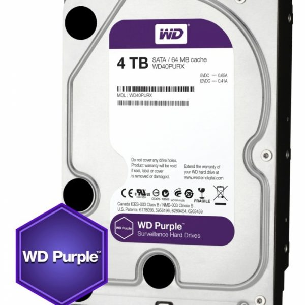 Western Digital Purple 4TB CCTV hard drive Image | Metro Solutions