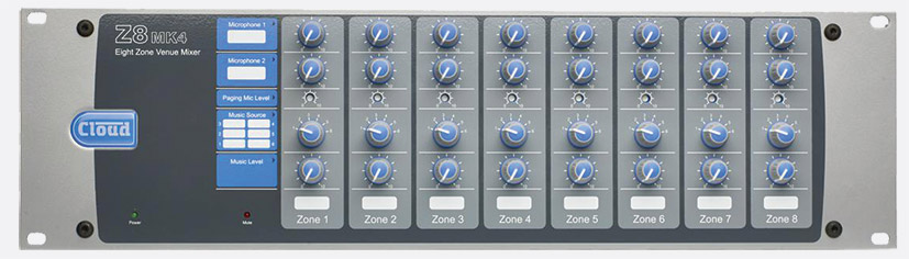 Cloud Z8MK4 8 Zone Mixer Image | Metro Solutions