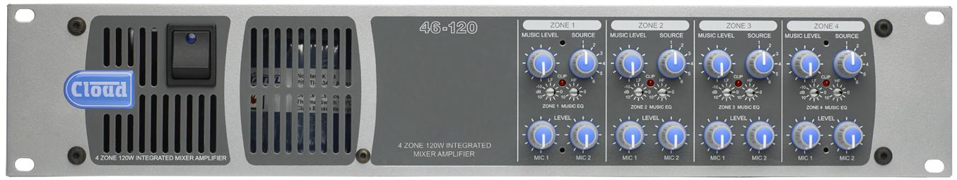 Cloud 46-120T 4 Zone Mixer Amp Image | Metro Solutions
