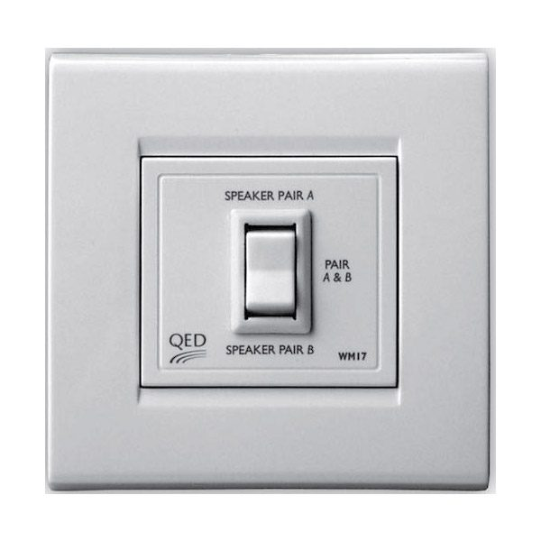 QED In-Wall Two Way Speaker Switch-Series Image | Metro Solutions