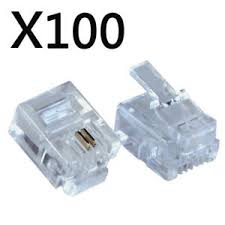 RJ11 Telephone Connectors 100pck Image | Metro Solutions