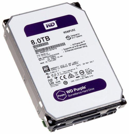 Western Digital Purple 8TB CCTV Hard Drive Image | Metro Solutions