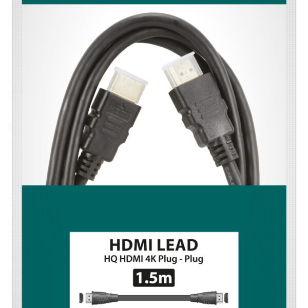 1.0mtr 4K Thinwire HDMI Lead with Ethernet Image | Metro Solutions