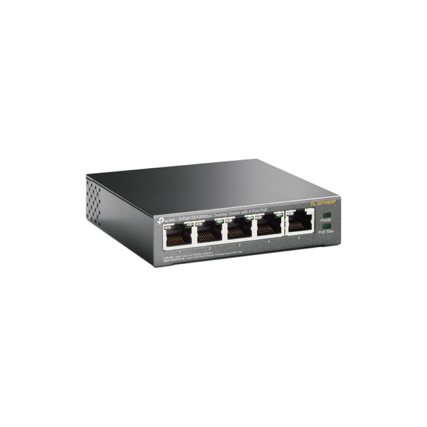 TP-Link 5 Switch with 4 PORT POE 10/100 Image | Metro Solutions