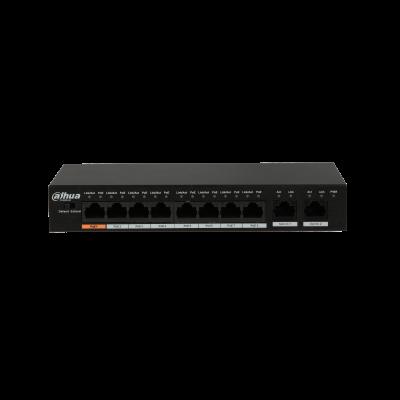 Dahua 8 Port POE Switch 96w 2 x RJ45 Uplink Image | Metro Solutions