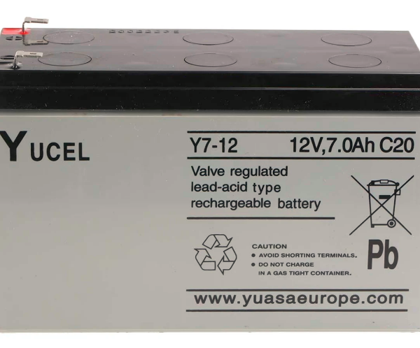 YUCEL Battery 12v 7.2Amp Y7-12 Image | Metro Solutions