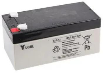 YUCEL Battery 12v 3.2Amp Y3.2-12 Image   Metro Solutions
