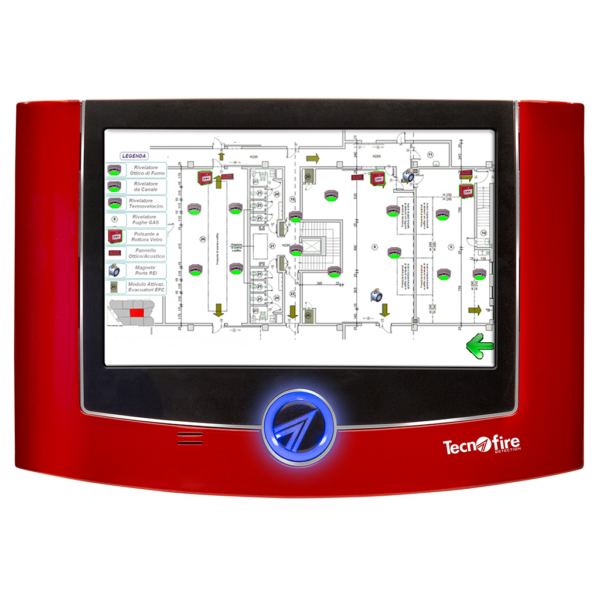 TechnoFire Repeater panel 7 inch w/ floor plan management Image | Metro Solutions